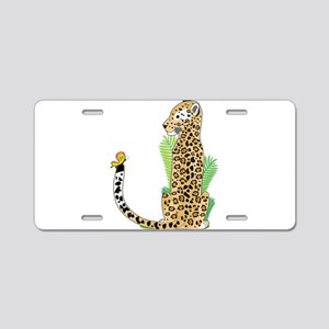 Animal Alphabet Jaguar Aluminum License Plate