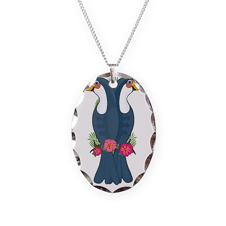 Animal Alphabet Toucan Necklace Oval Charm