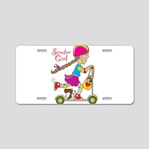 Scooter Girl Aluminum License Plate