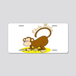 Cheeky Monkey Aluminum License Plate