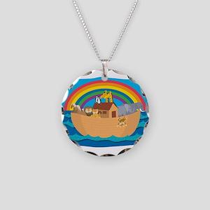 Noah's Ark Necklace Circle Charm
