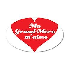Grandma Loves Me (French) 22x14 Oval Wall Peel