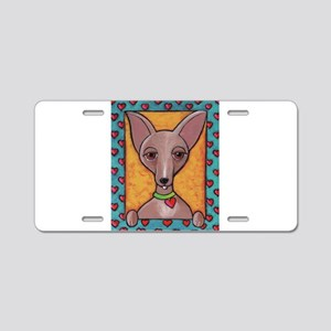 Bedazzled Chihuahua Aluminum License Plate