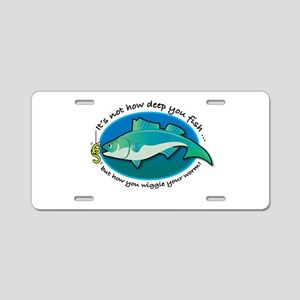 Wiggle Your Worm Aluminum License Plate