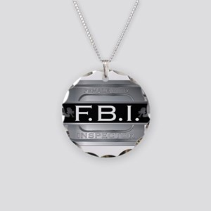 Female Body Inspector Necklace Circle Charm