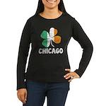 Irish Chicago Women's Long Sleeve Dark T-Shirt
