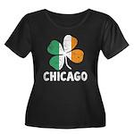 Irish Chicago Women's Plus Size Scoop Neck Dark T-