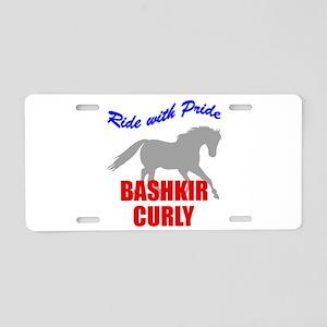 Ride With Pride Bashkir Curly Aluminum License Pla