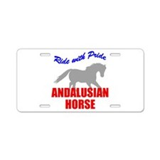 Ride With Pride Andalusian Horse Aluminum License