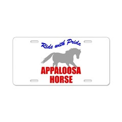 Ride With Pride Appaloosa Hor Aluminum License Pla