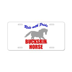 Ride With Pride Buckskin Hors Aluminum License Pla