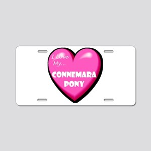 I Love My Connemara Pony Aluminum License Plate