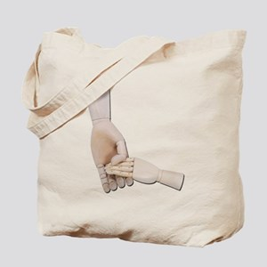 Holding a Child Hand Tote Bag
