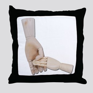 Holding a Child Hand Throw Pillow