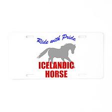 Ride With Pride Icelandic Hor Aluminum License Pla
