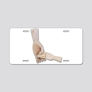 Holding a Child Hand Aluminum License Plate