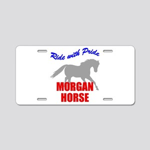 Ride With Pride Morgan Horse Aluminum License Plat