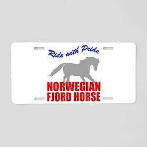 Norwegian Fjord Horse Pride Aluminum License Plate