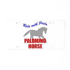 Ride With Pride Palomino Hors Aluminum License Pla