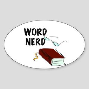 Word Nerd Sticker (Oval)