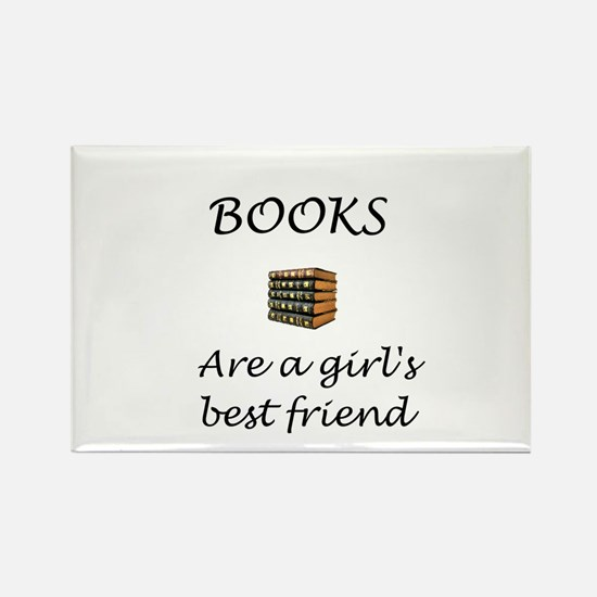 Girl's Best Friend Rectangle Magnet