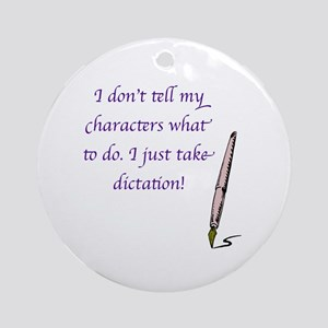 Character Dictation Ornament (Round)