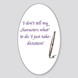 Character Dictation Sticker (Oval)