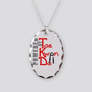 Powered by Tae Kwon Do Necklace Oval Charm