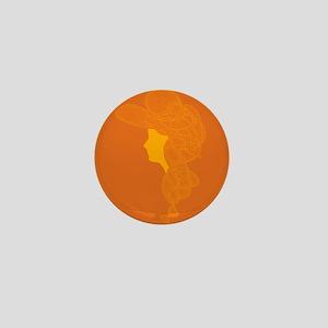 Orange Lady Mini Button