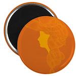 Orange Lady Magnet