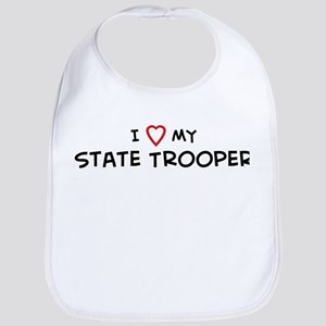 I Love State Trooper Bib