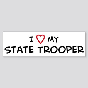 I Love State Trooper Bumper Sticker
