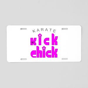 Karate Kick Chick Aluminum License Plate