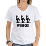 Easter Island: We Rock Women's V-Neck T-Shirt