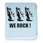 Easter Island: We Rock baby blanket