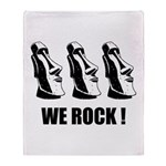 Easter Island: We Rock Throw Blanket