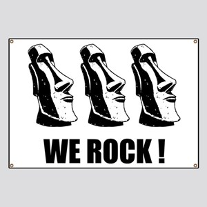 Easter Island: We Rock Banner