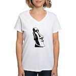 Easter Island Head Women's V-Neck T-Shirt