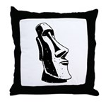 Easter Island Head Throw Pillow