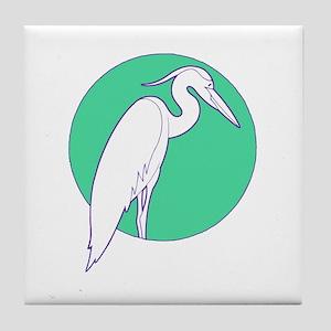 Nouveau Heron Tile Coaster
