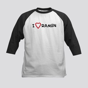 I Love Ramen Kids Baseball Jersey