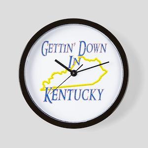 Gettin' Down in KY Wall Clock