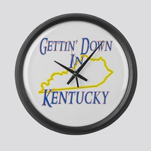 Gettin' Down in KY Large Wall Clock