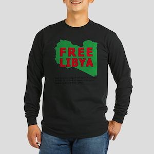 Free Libya Long Sleeve Dark T-Shirt