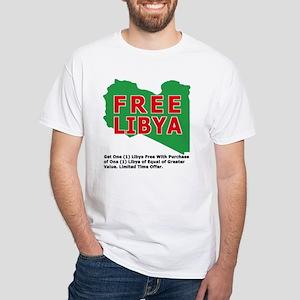 Free Libya White T-Shirt