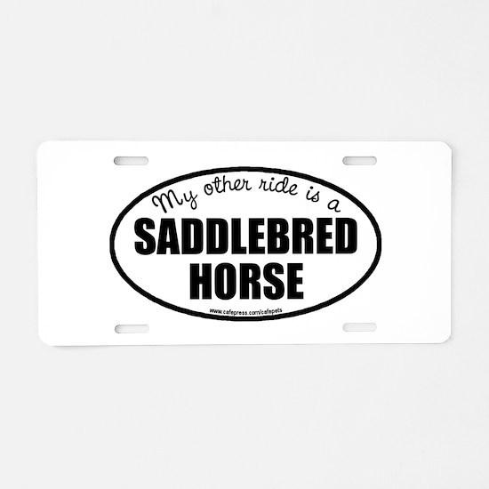 American Saddlebred Horse Aluminum License Plate