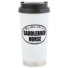 American Saddlebred Horse Stainless Steel Travel M
