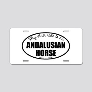 Andalusian Horse Aluminum License Plate