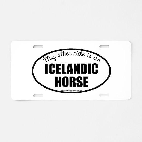Icelandic Horse Aluminum License Plate