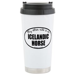 Icelandic Horse Stainless Steel Travel Mug